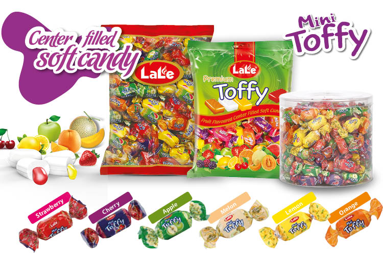 Fruit Flavored Center Filled Soft Candy - Lale Şekerleme Chocolate